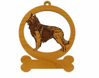 Belgian Tervuren Ornament 081675 Personalized With Your Dog's Name
