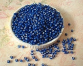Czech Seed Beads 11/0 Colour Lined Blue, 20 grams no. 0992-0407