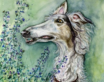 Dog Art Borzoi Print