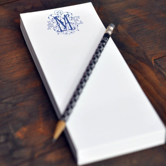 Custom Notepads Memo Pads: Personalized Skinny Note Pad Single Thickness By HautePapier