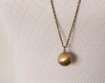The Golden Snitch - locket ball necklace