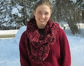 An Original. Bulky Cowl, Designed and Crocheted by Spruce Cottage Knits for Patricia Shea