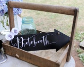 Photobooth Chalkboard Sign Double Sided Metal Arrow Party Wedding