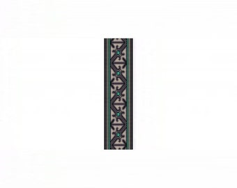 Thinking Outside the Box Cuff Bracelet - Loom or 7 Drop Odd Peyote Bead Pattern