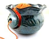 Yarn Bowl, pottery yarn bowl, knitting bowl - Made to order
