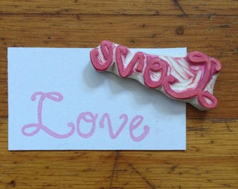 Hand Carved Love Stamp