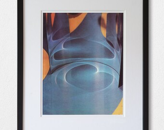 Blue Abstract - 70's vintage book photography page