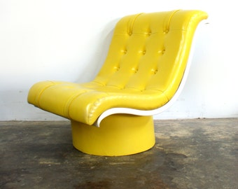 Sale Bright Yellow Tufted Oversized Lounge Chair Free Shipping