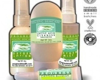 Organic and Natural Clarifying Oxygen  Skin Care System  Non Toxic Skincare  Holistic Formulas  Comes with a reusable zipper pouch