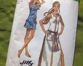 1970s Vintage Sewing Pattern - Misses Beach Dress in Two Lengths - Simplicity 9414 / Size 12