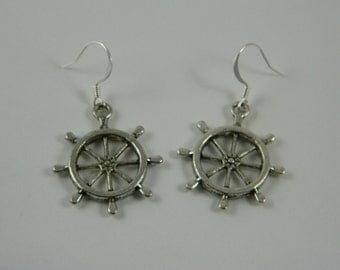 captains wheel earrings