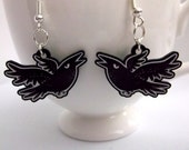 Grumpy Crow acrylic charm earrings