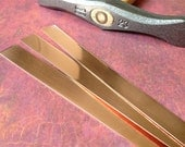 "1.25"" Copper Rectangle Bracelet Blanks 6 x 1.25 inch, 20 gauge Your Choice of Quantity, Pro Polish Pad included when you buy 3 or more"