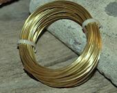 YELLOW Brass Round Wire - Dead Soft Temper - Your Choice of Gauges 12 thru 24