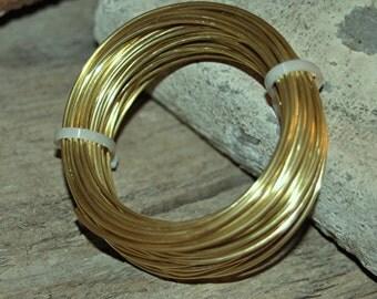 10 g YELLOW Brass Round Wire - Dead Soft Temper