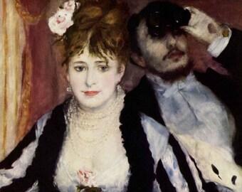 The Loge by Renoir - a Frameable, Vintage 1954 Art Print