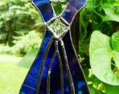 Stained Glass, Windchime Blue Dress, with vintage finding