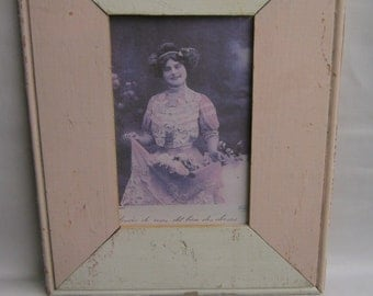 Reclaimed Wood 4x6 Picture Frame Single Photo Two Tone S1752-13