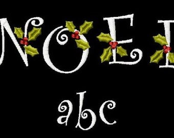 Digital Download 4x4 Christmas Curlz Noel Script Alphabet Holiday Font Set  Machine Embroidery Designs now with BX format