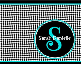 Custom personalized note cards handmade cards Custom notes houndstooth stationery sassy cards,  houndstooth notes Houndstooth  bama