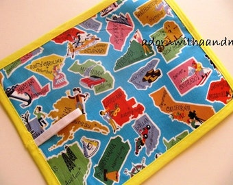 Chalkimamy This land is your land TRAVEL chalkboard mat/ placemat