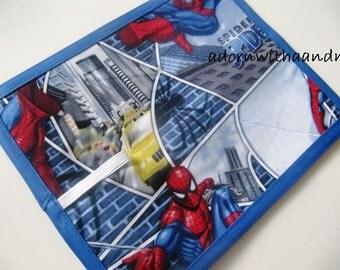 Chalkimamy Spiderman on buildings TRAVEL chalkboard mats (a)