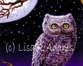 Owl Moon Note Cards Set from Original Painting Creationarts