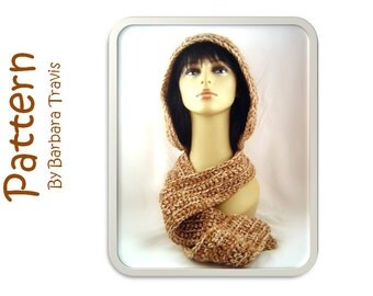 Crochet Pattern Hood with Attached Scarf Red Riding Hood style hood