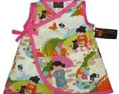 Geisha Girl - Japanese Clothing - Harajuku Dress - Pink Dress - Cotton Dress - Toddler Dress - Japanese Clothes - Girls Dress - 4t - 5t - 6