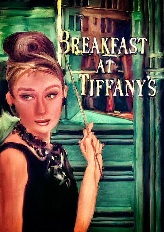 Print Audrey Hepburn Breakfast At Tiffany S Birthday By