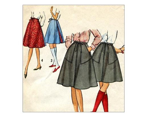 wrap skirt pattern vintage 1960s a line by allsfairyvintage