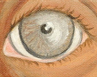 hazel eye painting, miniature hazel lover's eye painting on canvas