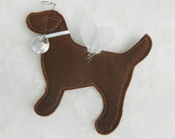 Chocolate Lab Angel Ornament - FREE Personalization