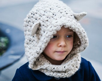 Instant download -  Crochet PATTERN (pdf file) - Hooded Cowl (baby to adult)