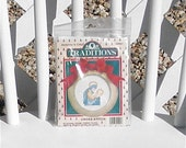 Madonna and Child Counted Cross Stitch Kit with Wooden Frame Vintage