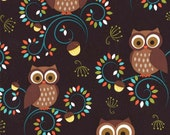 Michael Miller Fabrics Happy Hooters Fat Quarter  from the Norwegian Woods Too Collection
