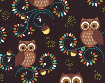 Michael Miller Fabrics Happy Hooters 1/2 Yard from the Norwegian Woods Too Collection