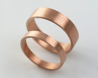 14k Rose Gold Recycled Gold Hand Forged 14k Eco Friendly Metal Handmade in Portland, OR
