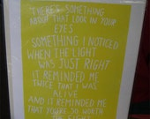 Incubus inspired linocut print available in yellow or cobalt blue