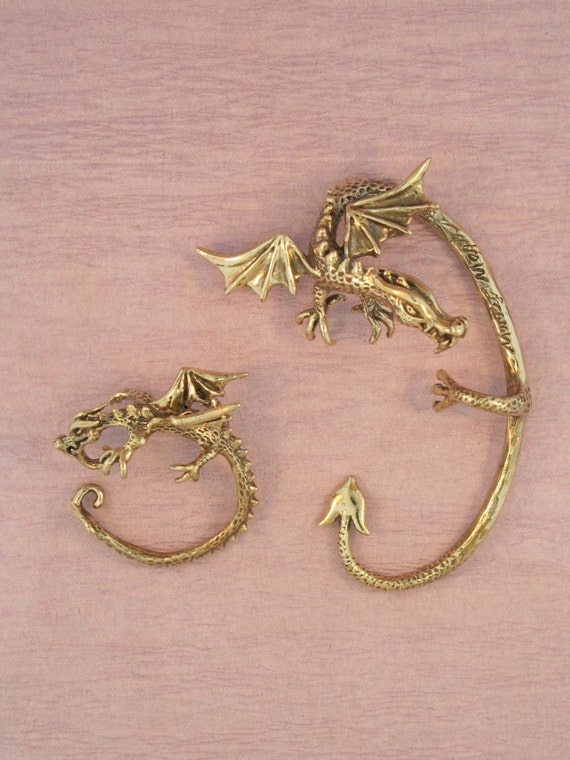 Dragon ear cuff game of thrones inspired dragon ear by martymagic - Game of thrones dragon ear cuff ...