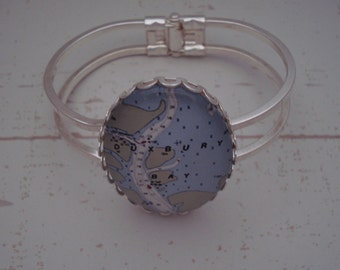 Nautical Chart Jewelry Using the Nautical Chart or Yacht Club Flag of Your Choice!