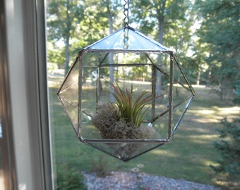 Geometric Hanging Glass Terrarium