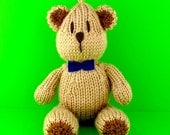 Small Sam Bear - INSTANT DOWNLOAD PDF Knitting Pattern