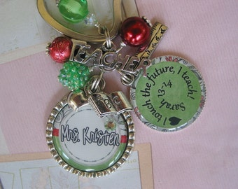 Personalized Teacher's Keychain , end of year gifts