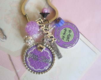 Personalized Teacher's Keychain, end of year gifts, graduation gifts