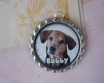 Personalized Bottle cap Dog Id Tag