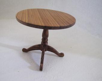 Dollhouse miniature hardwood dining room table