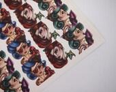 Sheet of Stickers - Nautical Pirate Girls