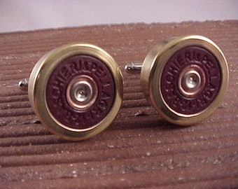 Shotgun Cufflinks / Baschieri and Pellagri 12 Gauge Shotgun Cuff Links / Wedding Cufflinks / Real Shotgun Shell / Groomsmen Gifts