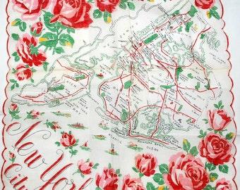 Vintage New York City Souvenir Handkerchief